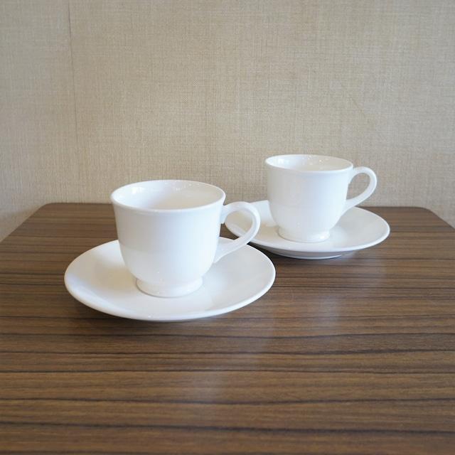 ノリタケ 白地のコーヒーカップ2客セット