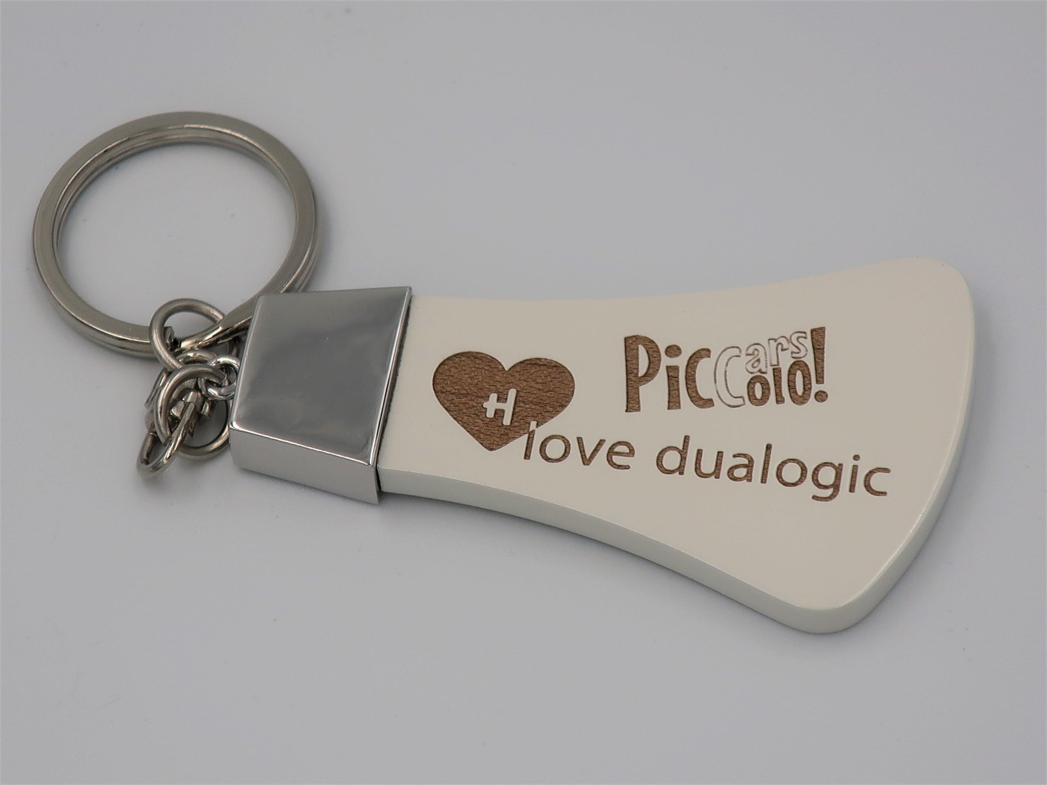 「love dualogic」(フィアットデュアロジック) キーホルダー