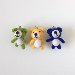 クマのあみぐるみキーホルダー Bear Amigurumi Keychain
