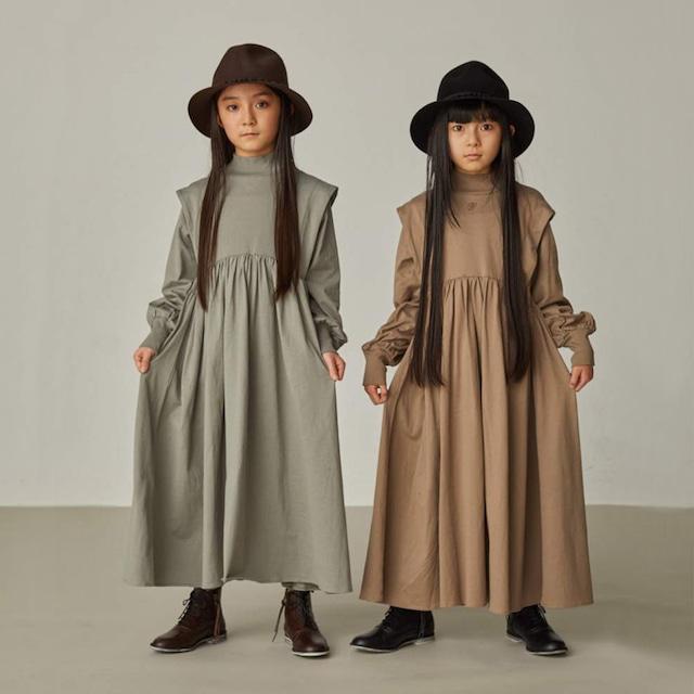 GRIS Tuck Shoulder Gather Dress (グリーン) S/M/L [GR21AW-CU004]