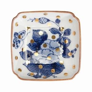 amabro (アマブロ)  MAME (豆皿) 【牡丹蝶文角皿】