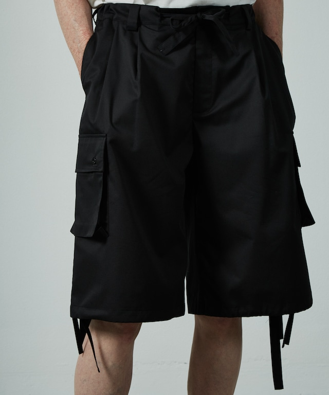 UNSELDS  broad wide cargo shorts Black