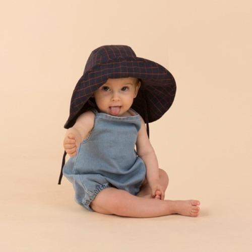 Tinycottons Grid wv sun hat