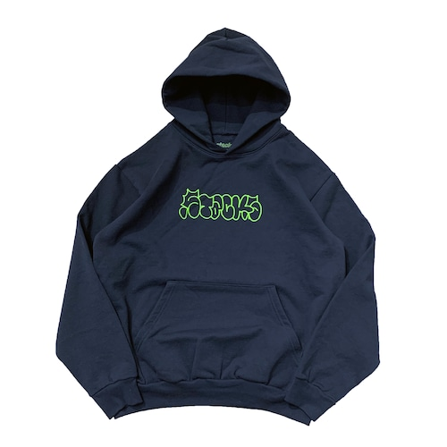 STACKS / SECTUNO ''THROWUP'' HOODIE -NAVY-