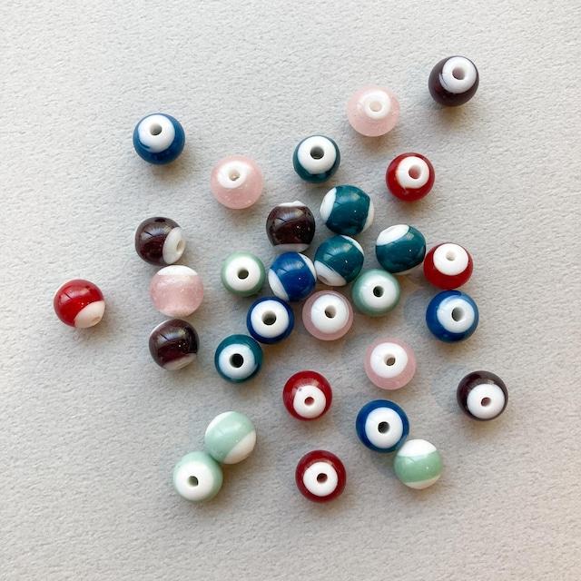 カラーサンドラウンドガラスビーズ(S/9mm)