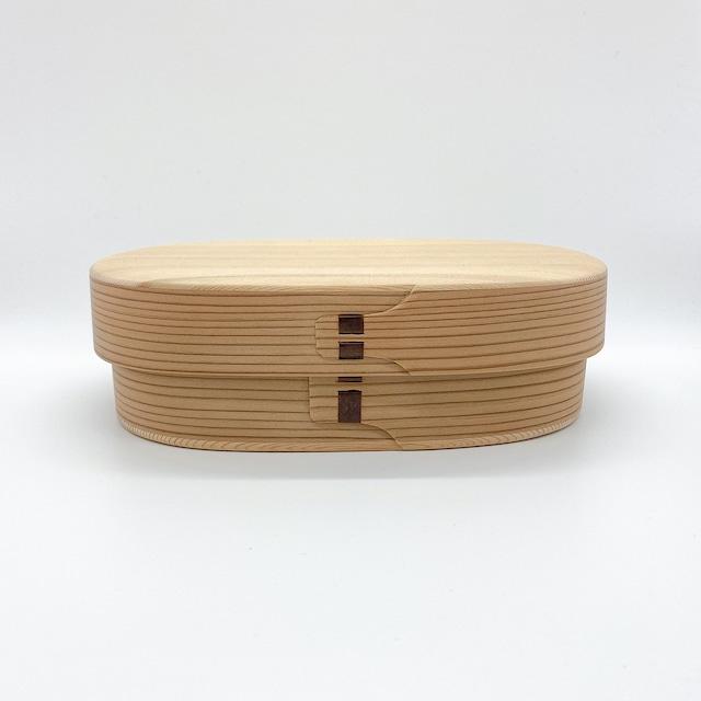 柴田慶信商店 曲げわっぱ|白木の弁当箱|小判弁当箱・中