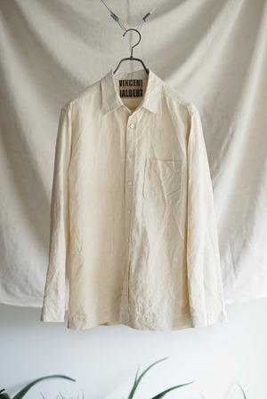 <SOLD OUT>Vincent Jalbert - Full Vintage Linen Shirt (natural)
