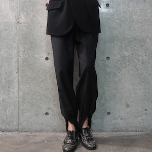 【WOMENS - 2 size】DROW CODE PANTS / Black