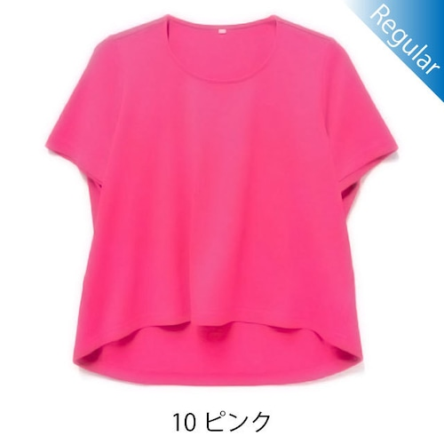 半袖丸首Tシャツ / 10ピンク / 身長152cm→142cm / アイラブグランマ・スムースネック / 型番TC02-152