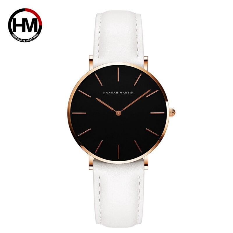 女性の時計クリエイティブトップブランド日本クォーツムーブメント時計ファッションシンプルな因果レザーストラップ女性の防水腕時計CH36-FB