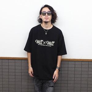 Will×Will logo Loose T-shirts BLACK