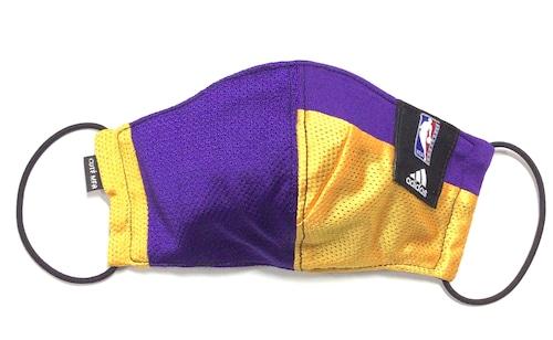 【デザイナーズマスク 吸水速乾COOLMAX使用 日本製】NBA LAKERS adidas SPORTS SPECIAL MASK CTMR 1130006