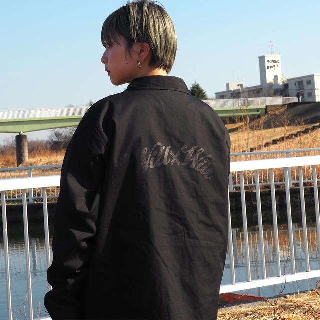 WillxWill Arch Logo Coach Jacket Black