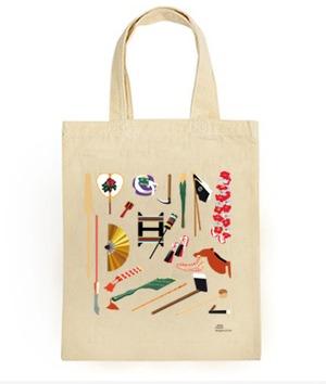 『琉球舞踊・小道具』 - A4サイズシンプルバッグ