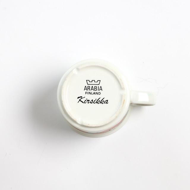 ARABIA アラビア Kirsikka キルシッカ コーヒーカップ&ソーサー、プレート三点セット - 11 北欧ヴィンテージ ☆わけあり☆