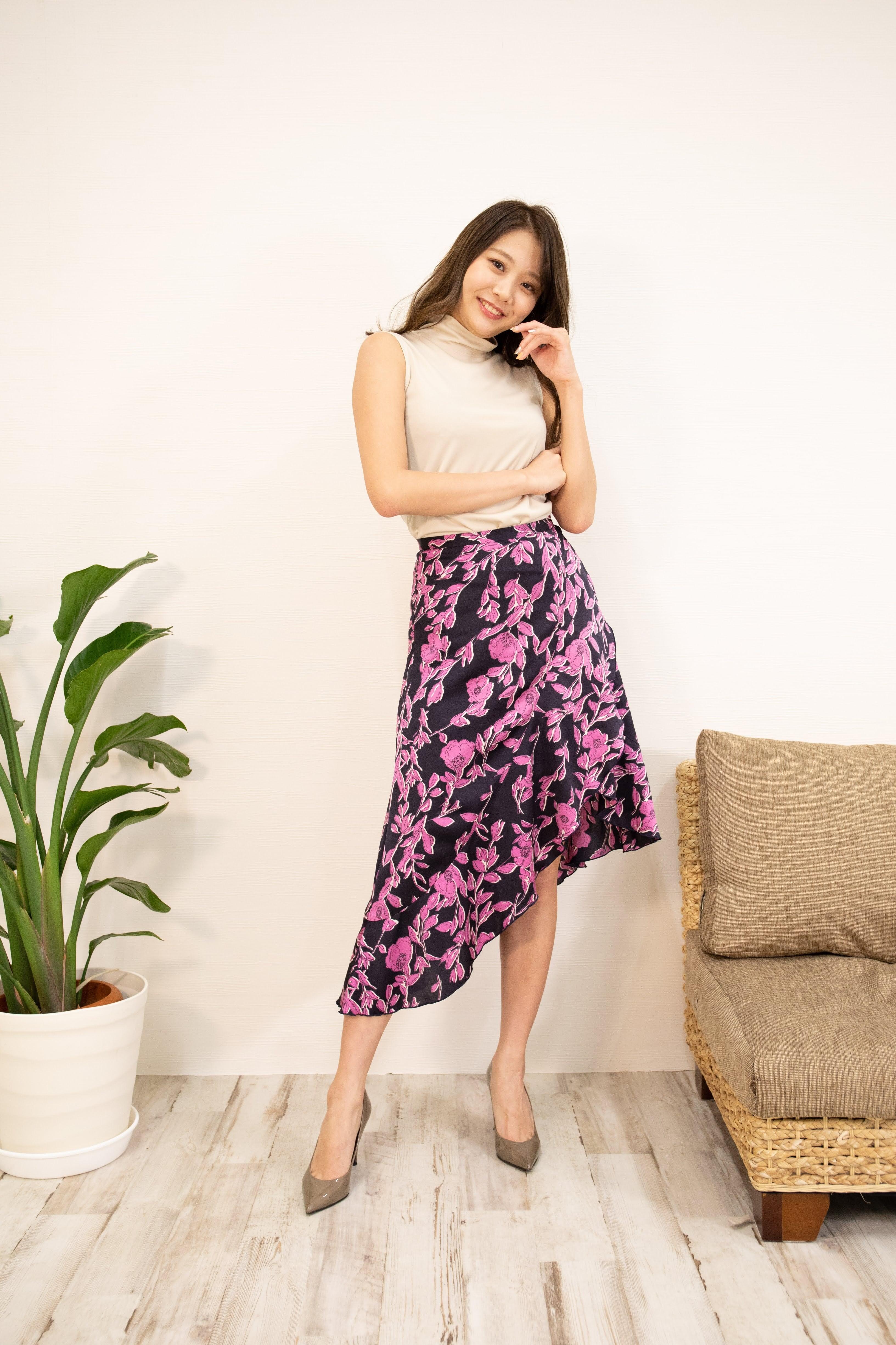 frill asymmetry skirt