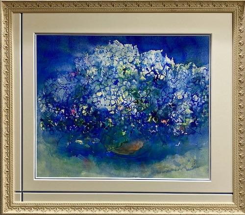 大口満・大島画廊コラボ額装 『紫陽花Ⅰ』