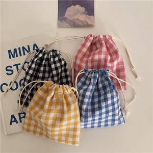 gingham check mini purse(4color)