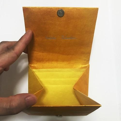 黒谷和紙のカードケース財布【黄金】