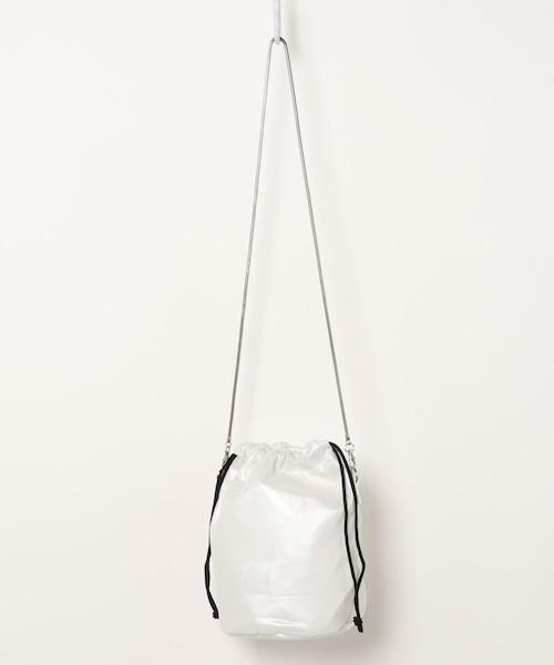 16753600【EDT/イーディーティー】metalic sling bag/メタリック巾着バッグ