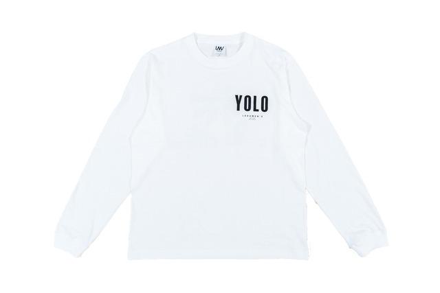 【YOLO surf long sleeve】/ white