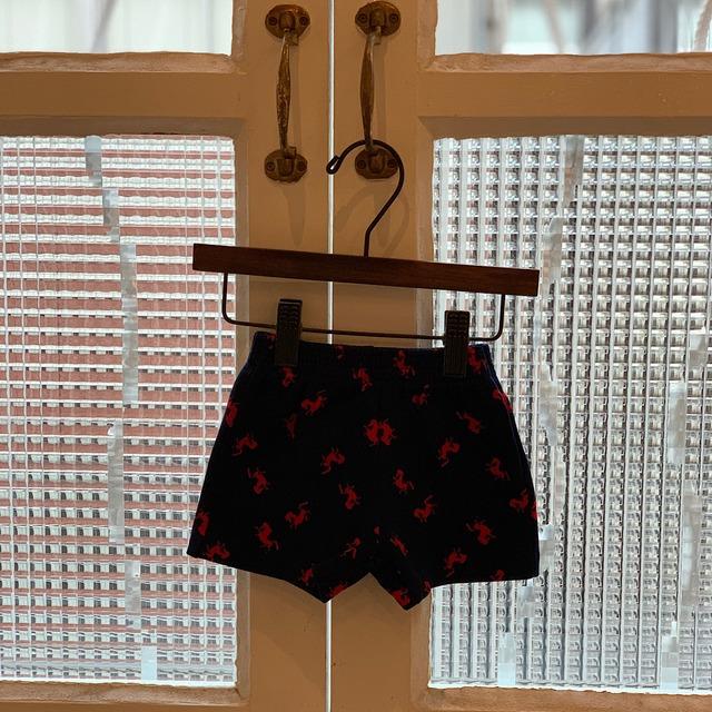 【送料無料】【KIDS】70's horse patterned jersey shorts - French -Size 1 years old-