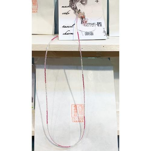 Item824 お花のフリンジ付き ネックレス&マスクコード