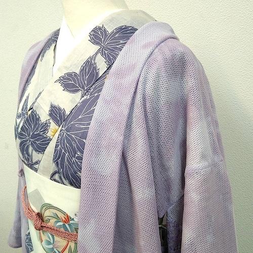 ★美品 レース羽織 紫 ハンドメイド ★ c0041e