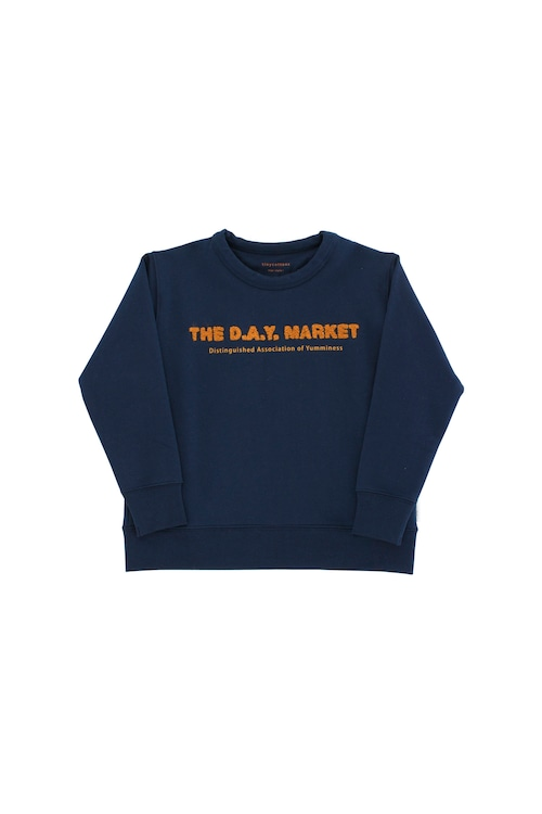 《tinycottons 2018AW》the day market graphic sweatshirt / navy × mustard