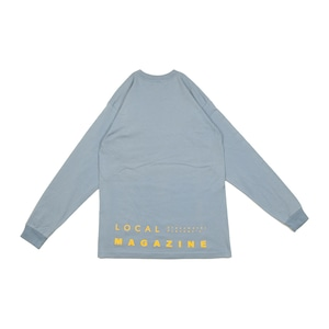 """LOCAL MAGAZINE 1ST ISSUE """"STRAIGHT"""" L/S TEE [EARTHBLUE]"""