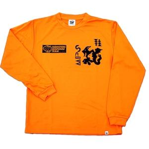 速乾ロングスリーブ Tシャツ (オレンジ)