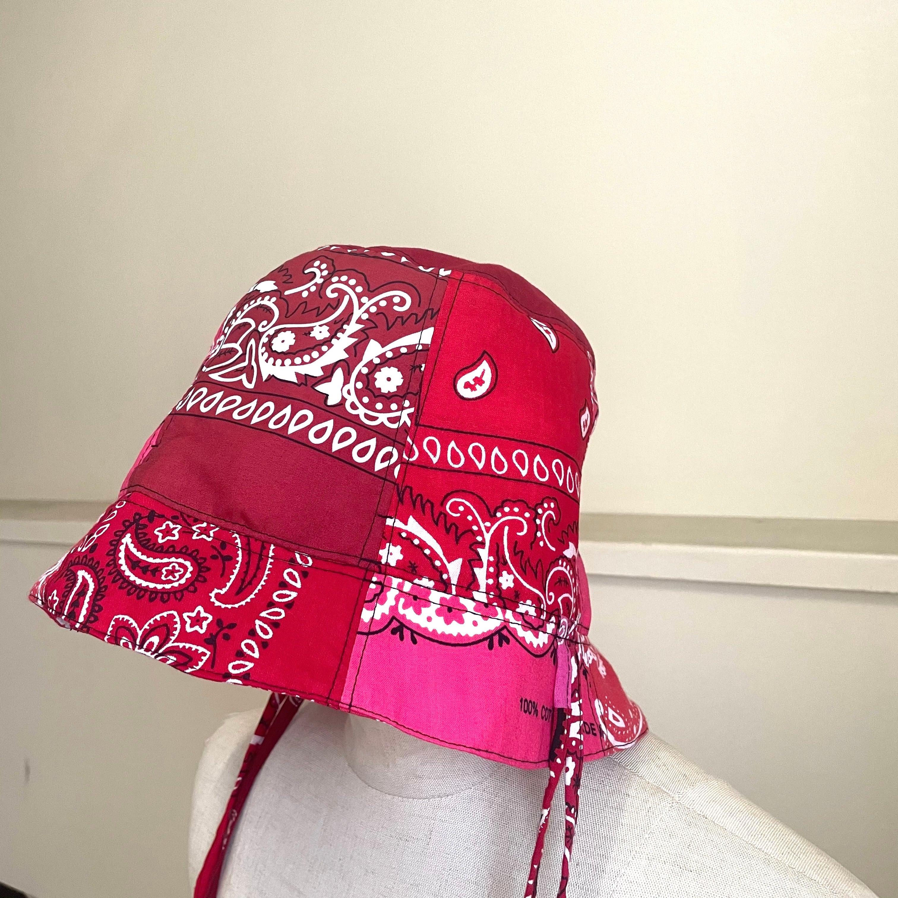 【RehersalL】bandanna basket hat(red B) /【リハーズオール】バンダナバスケットハット(レッドB)