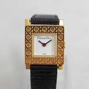 Christian Dior ディオール パリジェンヌ クォーツ 革ベルト 替えベルト付き 腕時計 レディース