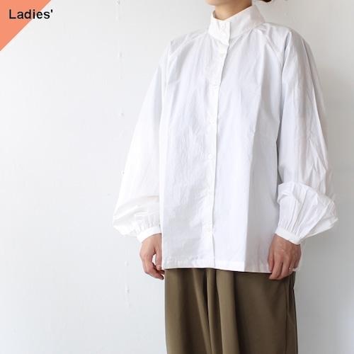 SETTO スタンドカラーシャツ FLEX  SHIRT (White)