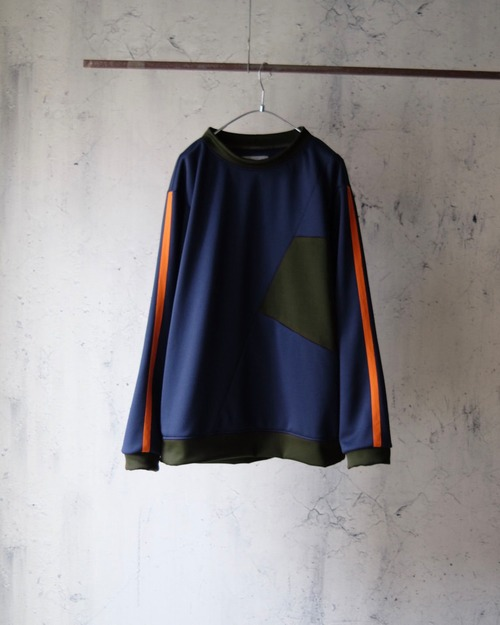 Eldritch switching Jersey Tops(Navy)