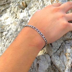 Figaro Chain Bracelet【5mm/SILVER】