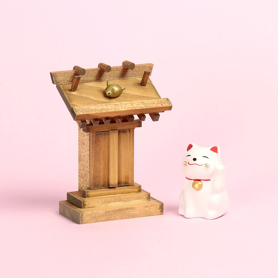 【選べるにゃんこ】にゃんこが守護する 天照神社 / おみくじ飾り