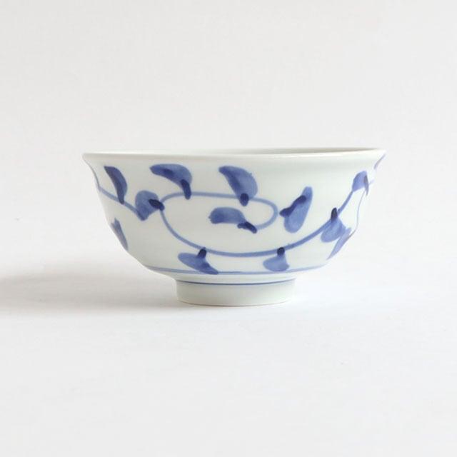 ろくべい茶碗 小(口径11cm) 子ども・女性向け たこ唐草【2001-6060】