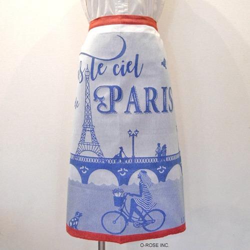 ギャルソンエプロン スール・シエル・ド・パリ(パリの青い空)Hélène Druvert(エレーヌ・ドルベール)