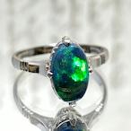 (昭和の懐かしいブラックオパールの指輪)Japanese Traditional ring