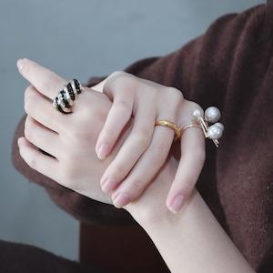 RING || 【通常商品】 SNAIL RING (BLACK) || 1 RING || GOLD || FAL017