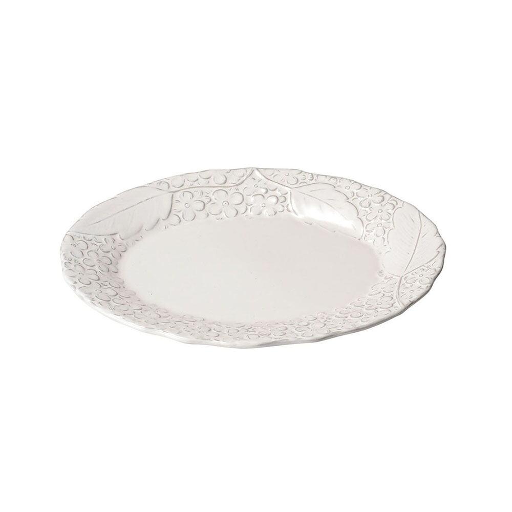 aito製作所 「リアン Lien」オーバルプレート 皿 約25×20cm ホワイト 美濃焼 267831
