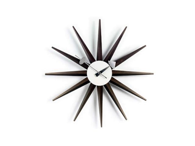 【Vitra Design Museum】Sunburst Clock 【Walnut】