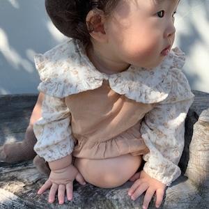 【即納】flower blouse   mimimarket(フラワー ブラウス)