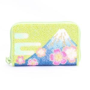 ラウンド小財布 099 富士山 ビーズ刺繍
