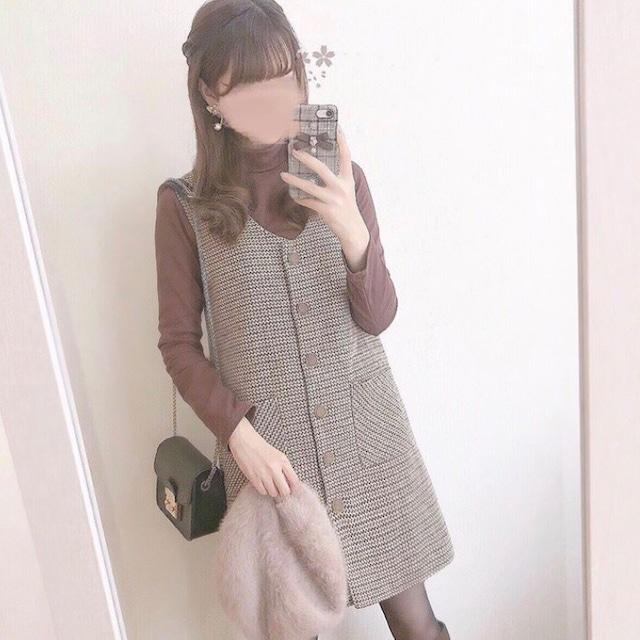 【sssyk_25様セレクト】フロントボタンジャンパースカートセット