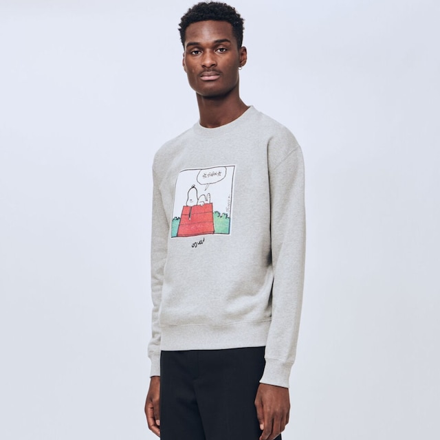 SOULLAND SNOOPY HOUSE CREW GREY