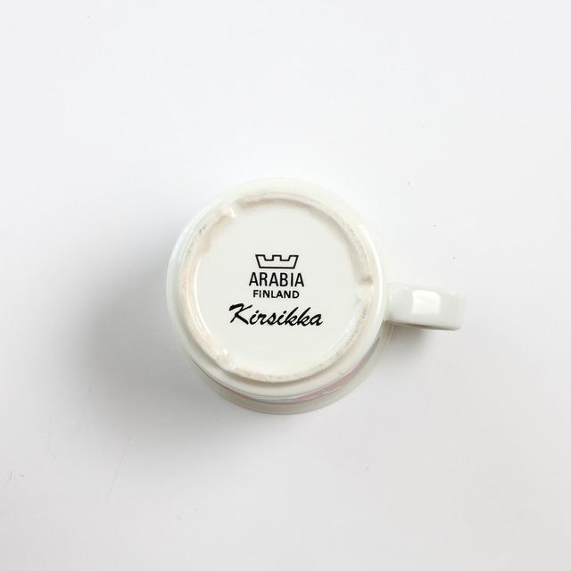 ARABIA アラビア Kirsikka キルシッカ コーヒーカップ&ソーサー、プレート三点セット - 6 北欧ヴィンテージ