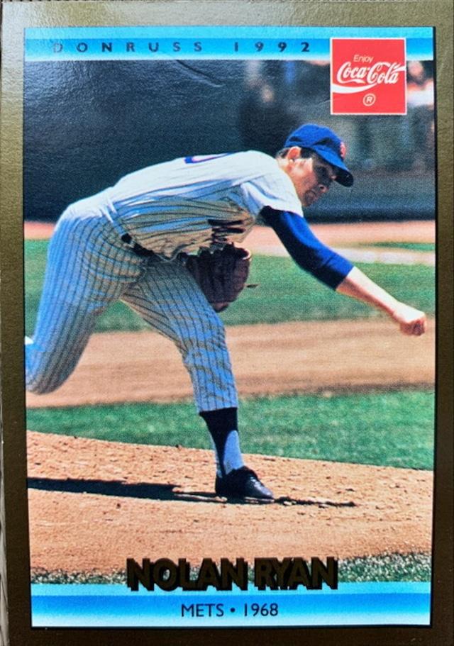MLBカード 92DONRUSS Nolan Ryan CAREER SERIES #2 of 26