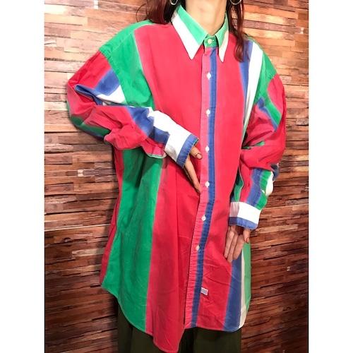 90's Ralph Lauren マルチストライプシャツ